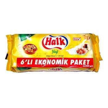Halk Margarin 6x250 Gr
