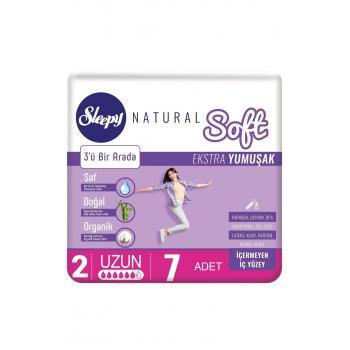 Sleepy Natural Soft Ekstra Yumuşak Uzun PED 7Lİ*4 PAKET AVANTAJLI