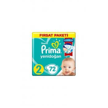 Prima Bebek Bezi Aktif Bebek 2 Beden 72 Adet  Mini Fırsat Paketi
