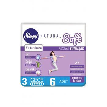 Sleepy Natural Soft Ekstra Yumuşak Gece  PED 6LI*4 PAKET
