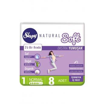 Sleepy Natural Soft Ekstra Yumuşak Normal PED 8 Lİ *4 PAKET  AVANTAJLI