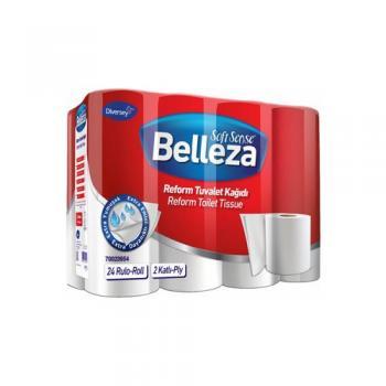 Belleza 24'lü Çift Katlı Paket Reform Tuvalet Kağıdı