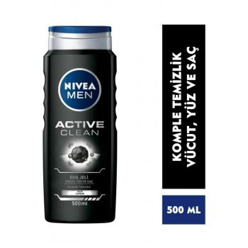 Duş Jeli Erkek Active Clean 500 Ml