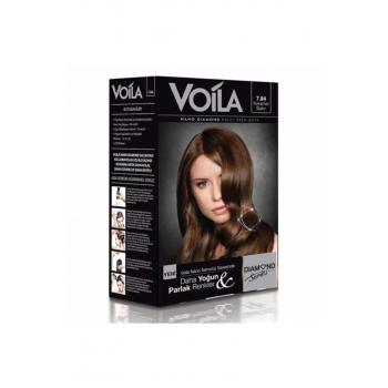 Voila Nano Diamond Krem Saç Boyası Karamel Bakır 7,84