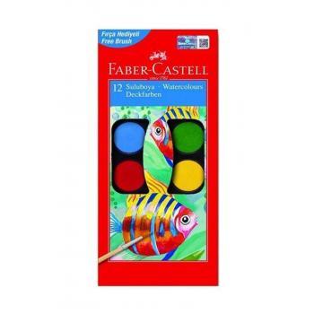 12 Renk Küçük Tablet Sulu Boya