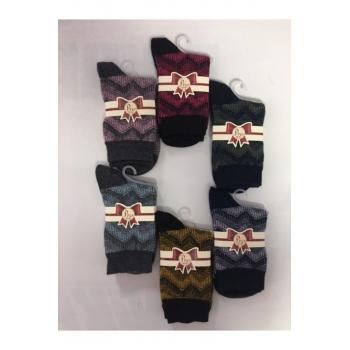 Kadın Yün Kışlık Çorap 6 Renk