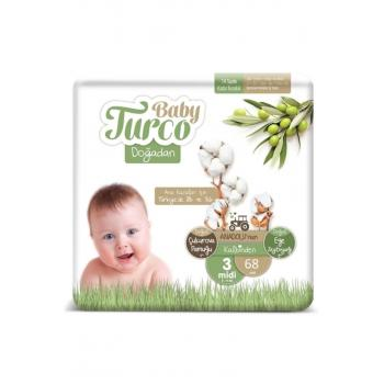 Baby Doğadan 3 Numara Bebek Bezi 5-9 Kg Midi 68 Adet