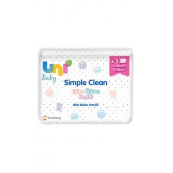 Simple Clean Islak Bebek Mendili 52'li X 3 Adet