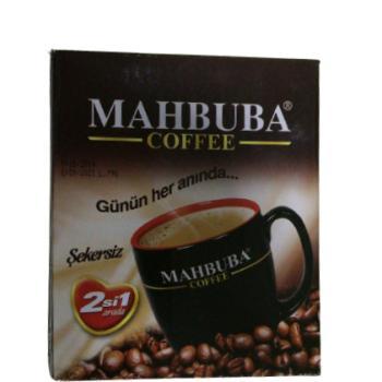 MAHBUBA COFFEE ŞEKERSİZ 2 Sİ BİRARADA  10 GR *24 ADET