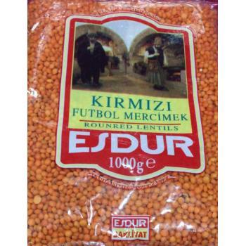 KIRMIZI   FUTBOL  MERCİMEK   ESDUR  NET /   1000GR PAKET 1