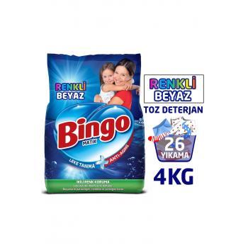 Toz Çamaşır Deterjanı Renkli - Beyaz 4 Kg