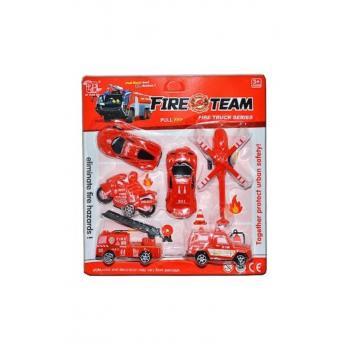 Fıre Team Çek Bırak İtfaiye Araçları Set