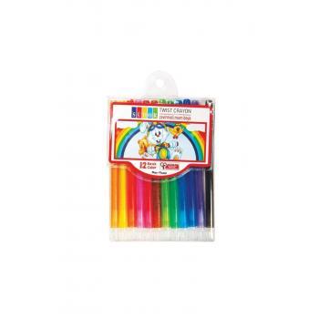 Mum Pastel Boya Twist Crayon Çevirmeli 12 Renk Yb08
