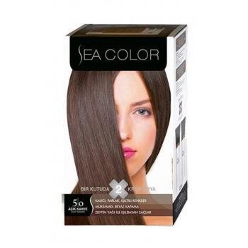 Sea Color 2'li Krem Saç Boyası Seti 5.0 Açık Kahve