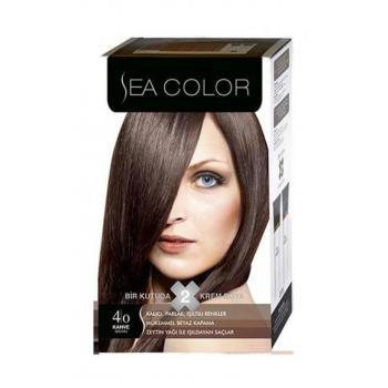 Sea Color 2'li Krem Saç Boyası 4/0 Kahve