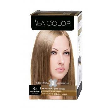 Sea Color 2'li Krem Saç Boyası Seti 8.0 Açık Kumral