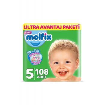 Molfix 3D Bebek Bezi, Junior (5) Beden, 108 Adet