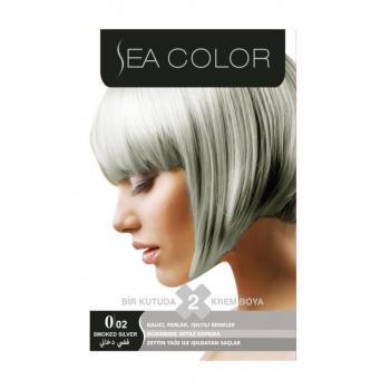 Sea Color Gümüş Gri 2'li Krem Saç Boyası 0/02