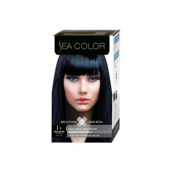 Sea Color Set Saç Boyası Mavi Siyah 1.1