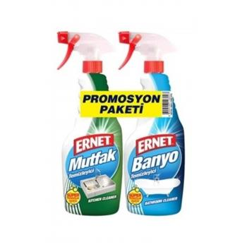Süper Likit Promosyon Mutfak + Banyo Tem. (1+1) 750 ml Spreyli 1202904