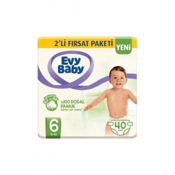 Bebek Bezi 6 Beden Ekstra Large 2'li Fırsat Paketi 40 Adet