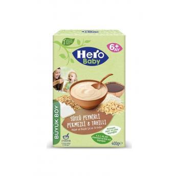 Hero Kaşık Mama Sütlü Peynirli Pekmezli 8 Tahıllı 400 Gr