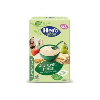 Hero Sütlü Meyveli 8 Tahıllı Kaşık Mama 400 Gr