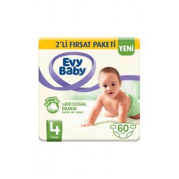 Bebek Bezi 4 Beden Maxi 2'li Fırsat Paketi 60 Adet