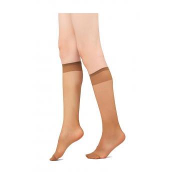 Kadın Bronz Burnu Takviyeli Mat Dizaltı Çorap 004