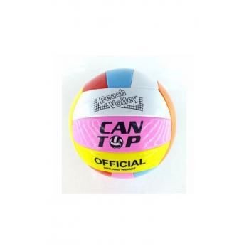 Renkli Dikişli Voleybol Topu