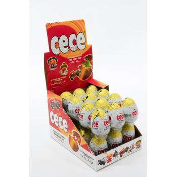 Cece Egg 25gr 24 Adet Oyuncaklı Sürpriz Yumurta
