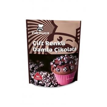 Çift Renkli Damla Çikolata 70 Gr