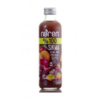 %100 Sıkma Elma Nar Port 250 ml