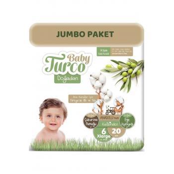 Bebek Bezi Doğadan Beden:6 (16+kg) Xlarge 20 Adet Jumbo Pk