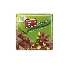 Antep Fıstıklı Kare Çikolata 60 Gr