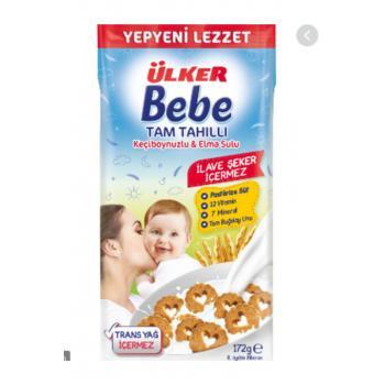 Ulker Bebe Tam Tahıllı Kecıboynuzlu Elma Sulu 172gr