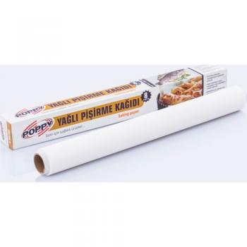 Poppy Beyaz Pişirme Kağıdı 37Cm 8 Mt (2 Adet )