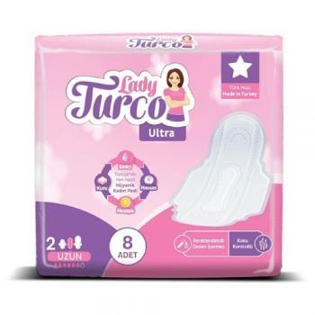 LadyLady Turco Ultra Uzun Kadın Pedi 8Li*5 paket set