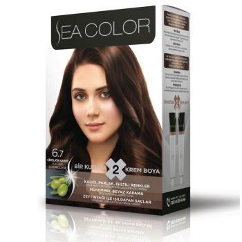 Sea Color Bayan Saç Boyası 6.7 Çikolata Kahve